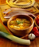 Hervido de pescado fish soup with vegetables, Venezuela