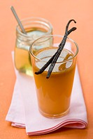 Sea buckthorn and vanilla drink with honey