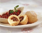 Quark dumplings with sour cherries