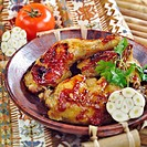Spicy chicken legs with garlic