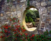 Mount Congreve Co Waterford, Moon Window and Chaenomeles, Early Spring,