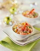 Seafood salad for Christmas