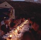 People at table with wine, Neil Ellis Wines, Stellenbosch