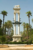 Spain, Andalucia, Sevilla, Columbus´ monument