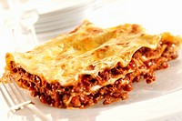 A portion of lasagne Not available for exclusive usages