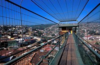 The bridge of Polanco cableway Valparaiso, Chile, South America