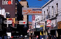 El Plan, the commercial zone of the city, shops Valparaiso, Chile, South America