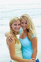 Teen age girls at the beach