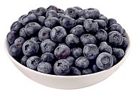 Bowl Of Blueberries Cut Out