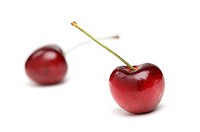 Two lonely cherries
