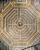 Close-up of a design on the floor (16th century), Te Palace, Mantua, Lombardy Region, Italy