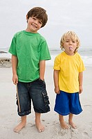 Two boys on a beach