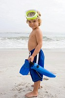 Boy with snorkeling gear
