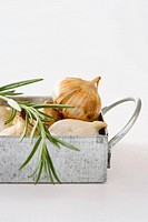 Rosemary and roasted garlic
