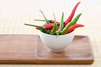 Chill peppers in a bowl