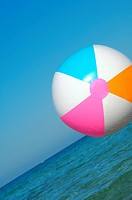 Colourful beach ball