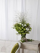 Bouquet of eustoma and viburnum