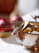 Silver raindeer bowl
