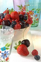 Berries and cherry