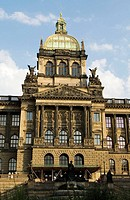 National Museum, built 1885-1891, architect Josef Schulz, Wenceslas Square, Prague, Czech Republic