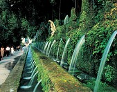 Fountains in a row, Avenue Of One Hundred Fountains, Hadrian's Villa, Tivoli, Lazio Region, Italy