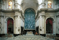 Italy - Sicily Region - Ragusa - Cathedral of Saint George - Interior, apse and main altar