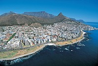 Aerial view of Cape Town and Signal Hill - Western Cape, South Africa