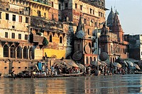 India - Uttar Pradesh - Varanasi (Benares) along the Gange River