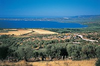 Italy - Apulia Region - Gargano National Park - Lake Varano from Cagnano Varano