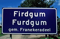 firdgum, road sign