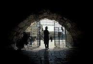 Jerusalem, inside the jewish synagogue at the wailing wall