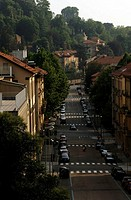 Turin, panoramic view on a street in Crimea