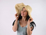 Woman wearing sunhat (thumbnail)