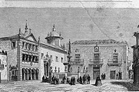 (From ´ Le Tour du Monde´  published Paris, 1860´s). Viana do Castelo in 1850´s. Portugal.