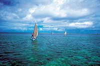 Mauritius, Rodrigues, fishing boats