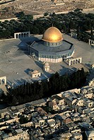 Israel, Jerusalem, aerial view of the Dome of the Rock