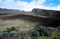 Reunion, Piton de la Fournaise volcano, Dolomieux crater