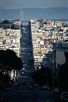 Hilly street, San Francisco, California, USA