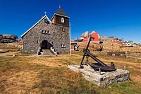 Church, Uummannaq, Greenland, anchor,
