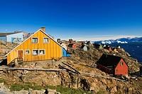 Houses, Uummannaq, Greenland,