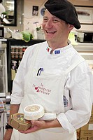 Canada, Montreal, Atwater Market, rue Saint_Ambroise, cheese vendor, La Fromagerie Atwater,