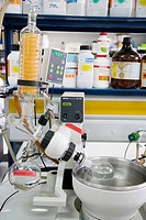 Rotary evaporator. Research and Development laboratory. Functional biomolecules in food extraction. AZTI-Tecnalia. Technological Centre specialised in...