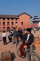 Nepal, Kathmandu, Durbar square. Kumari Bahal