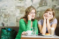Friends sitting in cafe