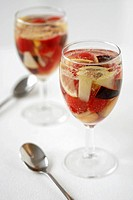Fruity punch with Prosecco