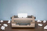 Electric typewriter and paper
