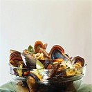 Marinated mussels with white wine