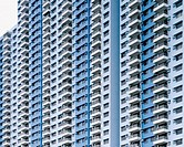 Hong Kong apartment building facade