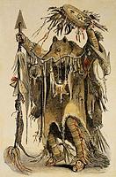 Medizin, Heilkunst, Heilkunde, Heilung, Krankheit, Krankheiten, Amerika, Nordamerika, Schwarzfuß, Blackfeet, Indianer, Ethnien, Ethnologie, Völkerkund...