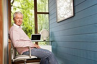 Man sitting at his desk in home office